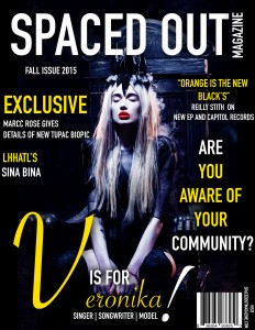 Veronika Mudra Covers Latest Issue Of Spaced Out Magazine.