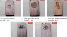 Wood Phone Case For Chicago Sport Teams